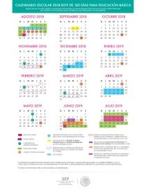 Calendario de 185 días